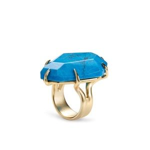 NWT Kendra Scott Megan Aqua Howlite Cocktail Ring